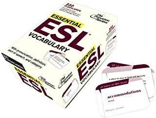 Essential ESL Vocabulary (Flashcards): 550 Flashcards with Need-To-Know Vocabulary for English as a Second Language Learners (College Test Preparation)