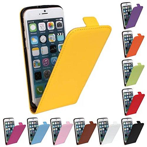 Gamsy Cassa del cuoio genuino per iPhone 5C Sport Palestra Up-Down Flip Case Cover Apri copertura del sacchetto del supporto di vibrazione del raccoglitore-Rose