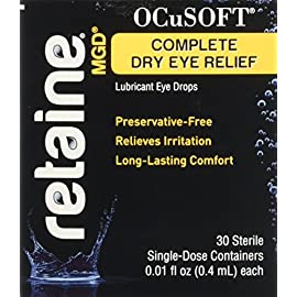 Ocusoft Retaine MGD Ophthalmic Emulsion, Milky White Solution, 30 count Single Use Containers, 0.01 Fluid Ounce 4 Retained mgd is a revolutionary preservative-free ophthalmic emulsion that moisturizes, lubricates and protects moderate to severe dry eyes Provides long-lasting relief utilizing nova orb, Proprietary cationic oil emulsion technology that effectively delivers ingredients through electrostatic attraction between positively charged droplets and the negatively charged ocular surface