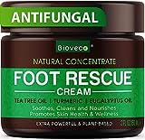 Antifungal Cream - Toenail Fungus Treatment & Athletes Foot Cream - Made in USA - Powerful Skin Fungus Cream - Natural Anti Itch Cream - 2 oz
