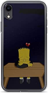 Horseshoe's Compatible with iPhone XR Case Bad Bart Simpson Pure Clear Phone Cases Cover