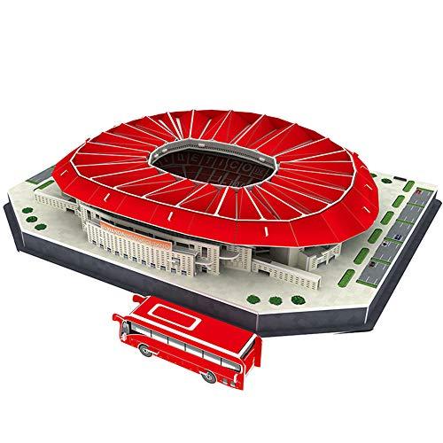 """EP-model Modelo 3D del Estadio Deportivo, Club Atlético de Madrid Modelo Wanda Metropolitano del Estadio Fans Souvenir DIY Puzzle, 14\""""× 11\"""" × 3\"""""""