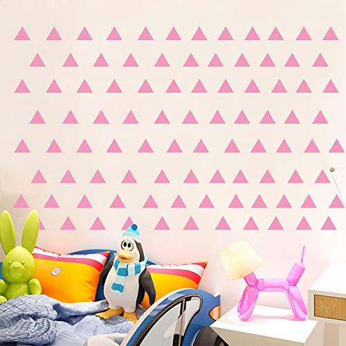 98 pegatinas de vinilo con forma de triángulo, removibles y encantadoras imágenes de triángulo, para dormitorio, sala de juegos, sala de estar, hogar, ventana, puerta, decoración (rosa)