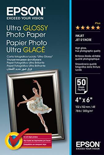 Epson S041943 Carta fotografica lucida Ultra Glossy 10 x 15 cm, confezione da 50 pezzi