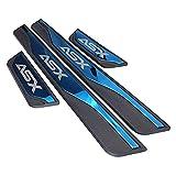 AKMEYI 4 Piezas Acero Inoxidable ABS Decoración Estribos para Mitsu-bishi ASX 2012 2013 2015 2016 2017 2018 2019, Externo Barra Umbral Puerta Bienvenido Patada Pedal