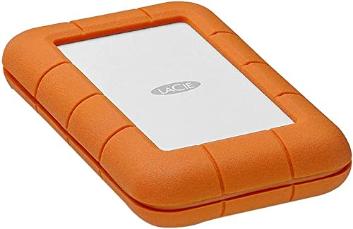 LaCie Rugged Thunderbolt USB-C 2 TB External Hard Drive Portable HDD – USB 3.0 Compatible, Drop Shock Dust Water Resi...