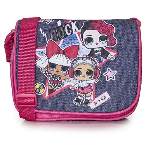L.O.L. Surprise! Handtasche, Umhängetasche Für Mädchen Und Jugendliche, Schultertasche Mit LOL Puppen Diva, Rocker Und Beats, Rosa Kinder Handtasche, Stilvolle Mädchen, Geschenke Für LOL Fans