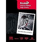 KOALA Papel fotográfico para impresoras de inyección de tinta Canon Hp EPSON 18x13 cm, 100 hojas, 240 g/m²