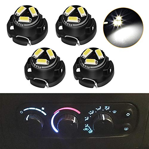 Urite2GO AC Climate Heater Control LED Lights Bulbs Kit Replacement Compatible with 2003-2008 Ram 1500 2500 3500 01-12 Dakota (White)