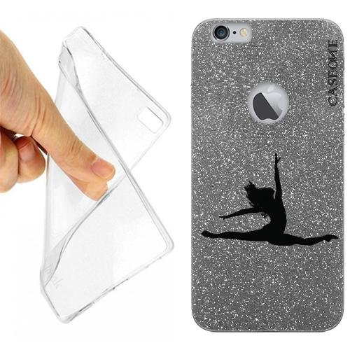 Custodia Cover Case Ballerina Danza Classica per iPhone 6 Plus Grey Dark Glitter