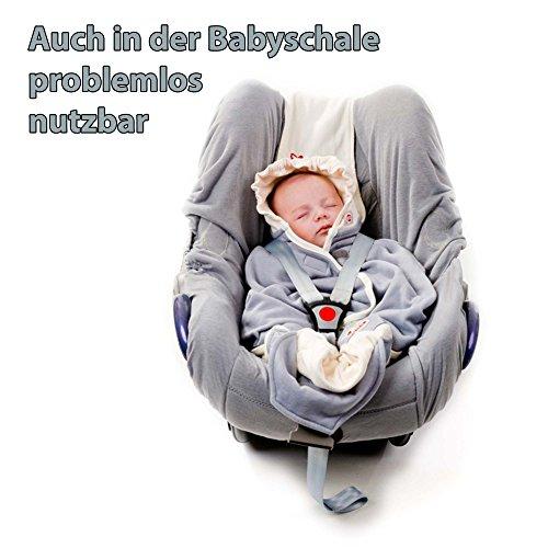Lodger Shelter 2.0 – 3in1 Babytrage, Babytragetuch, Babysling sowie Transportdecke für Babys und Eltern, ab Geburt bis 18 Monate (max. 12kg), Sicheres Verschlusssystem, Trage-Tuch für Babys und Kinder, Schönes Design, Neu und OVP - 3