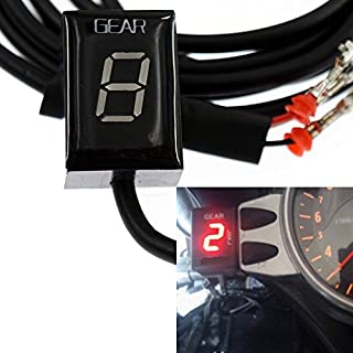 GFYSHIP For Honda CBR600RR F5 2003-2017 CBR650F 2014-2018 CBR1000RR 2004-2013 CBR1000RR Fireblade 2004-2011 Motorcycle LCD Electronics 1-6 Level Gear Indicator Digital Gear Meter