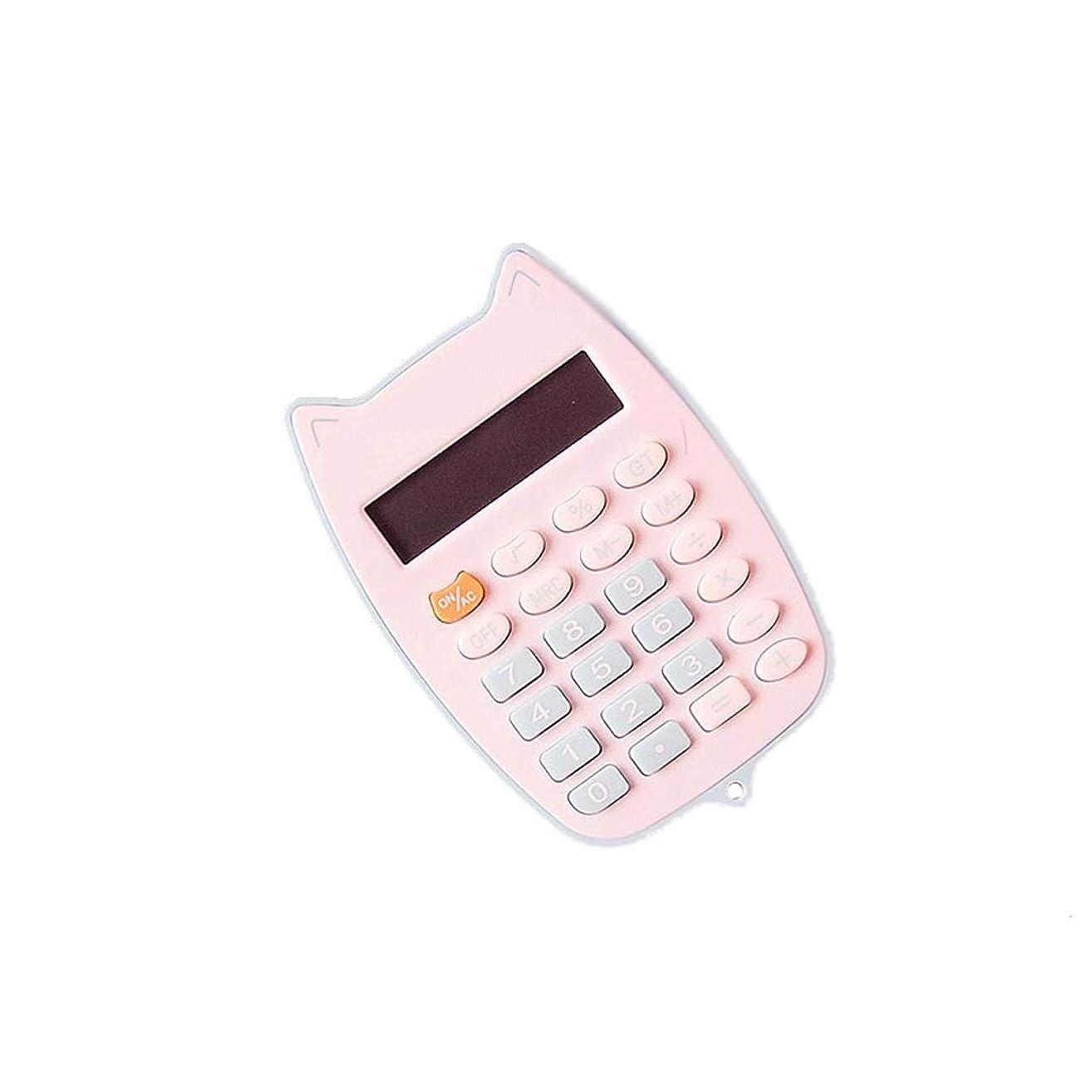 クリスマスファブリックおじさんポータブル電卓かわいいミニ学生電卓キャンディーカラーポータブル電卓オフィス耐久性のある快適な (Color : Blue)
