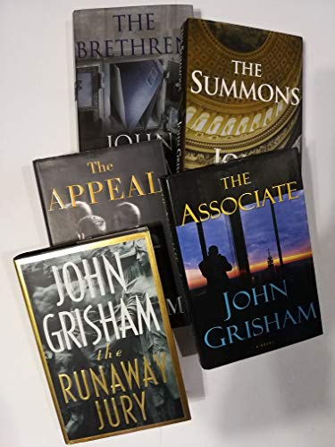 Set of 5 Legal Thrillers by John Grisham: The Runaway Jury, The Brethren, The Summons, The Appeal, and The Associate