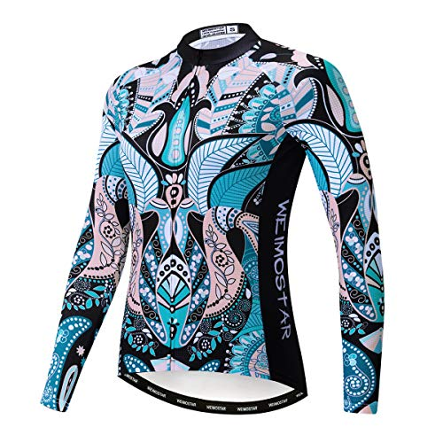 weimostar fietsshirt met lange mouwen Herfst Dames fietsshirt met lange mouwen Mountainbike Mountainbike kleding lente MTB-shirts
