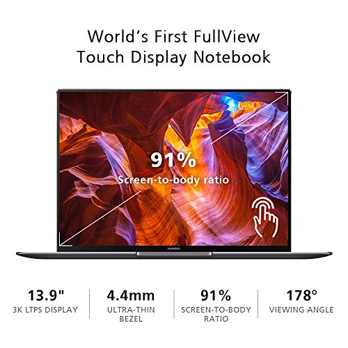 13.9-inch Huawei MateBook X Pro 3K Touch Quad-core i7 Laptop, Signature Edition (2018)
