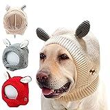 HJKLL Oreja de Conejo Mascota Protector del Calentador,CáLido Gorro de Invierno para Perro Grande Traje,del OíDo del Cuello Capuchas Calientes para Mascotas Sombrero de Perro Gules
