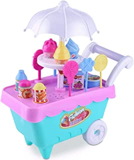 Hot Sale!DEESEE(TM)🌸🌸 Children Gift Ice Cream Cart Play Set Kids Pretend play Toy Food Toys Education (A)