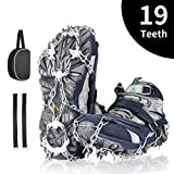 Spike Crampons, AGPTEK Ice Grippers with 19 Teeth Walk Traction Ice Cleat Crampons