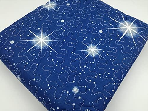 il dolce stile della tua casa Trapunta Estiva Quilt copriletto Trapuntato 100gr Stampa Blu Notte Stellata Universo (Singolo)