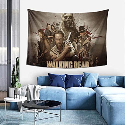 Tapiz de decoración de pared The Walking Dead exclusivo para colgar en la pared multiusos de techo para sala de estar, dormitorio, tamaño único.