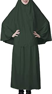 Women Islamic Gown Hajj Umrah 2 Piece Arab Modest Muslim with Hijab