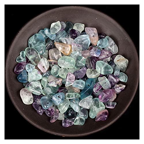Houren 16 Pulgadas Natural Irregular Verde Fluorita Pájaros Chips Gravas Gravel Beads para la fabricación de joyería Bricolaje Accesorios de Collar de Pulsera (Tamaño : 5-8mm 16inches)