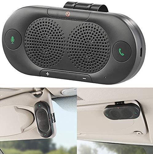 Callstel Auto, Bluetooth: Stereo-Kfz-Freisprecher mit Bluetooth 5, Siri- und Google-kompatibel (Kfz Freisprechsystem)