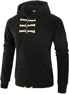 Suéter para hombre de manga larga, color sólido
