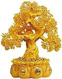 Feng Shui Money Treei Bonsai Money Tree citrino cristallo Money Tree Bonsai Style Feng Shui decorazioni Bonsai Fortune Money Tree for buona fortuna ricchezza prosperità Home Décor per l'ufficio a casa
