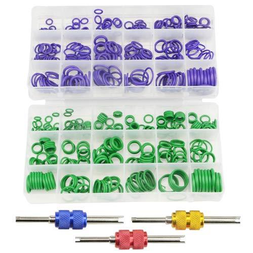 WMYCONGCONG 540 piezas 18 tamaños Compresor de aire acondicionado de coche junta tórica Kit de herramientas con válvula Core herramienta de extracción para coche vehículo reparación automática