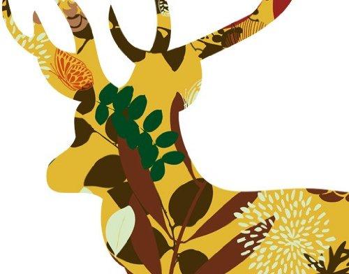 Fenstersticker No.409 Decostyle Deer Elch Wald Geweih Jägermeister Tiere Elch Fenstersticker Fensterfolie Fenstertattoo Fensterbild Fenster-Deko Fensteraufkleber Fensterdekoration Glas-Sticker Größe: 84cm x 75cm