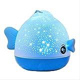 OurLeeme Kissing Fish Doce lámparas de proyector de luz nocturna, iluminación navideña, lámpara de ambiente 3D, lámpara de larga duración, lámpara de peces para proyectores, peces besándose