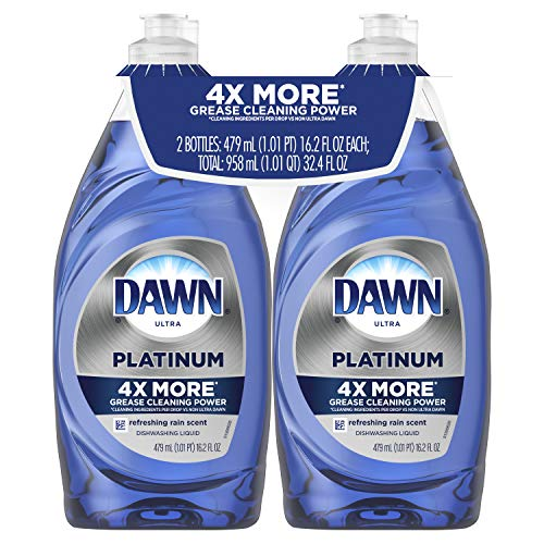 Dawn Platinum Dishwashing Liquid, Refreshing Rain,  19.4 Fl Oz, 2 Count