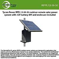 Tycon Rppl12-36-30 8W 連続ソーラーリモートパワーシステム 12Vバッテリー付き
