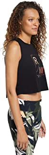 Rockwear Activewear Women's Autumn Haze Logo Front Crop from Size 4-18 for Singlets Tops