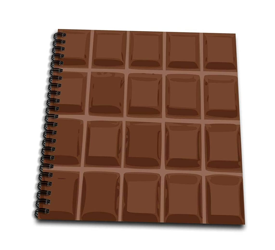 3dRose db_56655_2 Funny Dark Chocolate Bar Squares Design for Chocoholics Sweet Tooths and Chocolate Lovers-Memory Book, 12 by 12-Inch