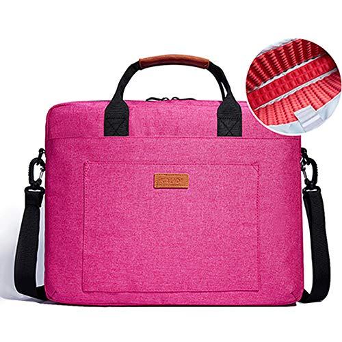 KALIDI Laptop Bag, 15.4' 15.6 Inch Notebook Briefcase Messenger Shoulder Bag for Dell Alienware/MacBook/Lenovo/HP, Travelling, Business, College and Office Rose