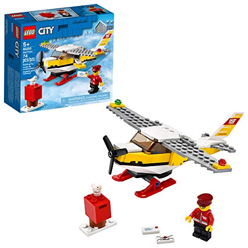 LEGO City Mail Plane 60250 Pretend Play Toy, Fun Building Set for Kids, New 2020 (74 Pieces)