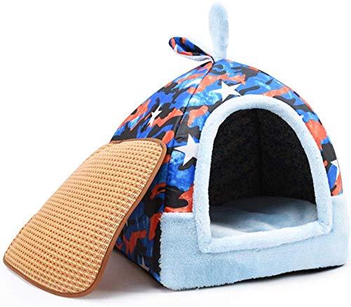 ZJN-JN Indoor-Hundebett, Starke warme Katze Nest, weiche waschbare Kennel, Small Medium Hund-H S Pet Supplies Betten