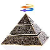 Fidget Toy, Sensory Desk Spinning Toy Made of Metal for Kids and Adults, Cool Mini Gadget for Stress and Anxiety Relief and Kill Time, Egyptian Pyramid..