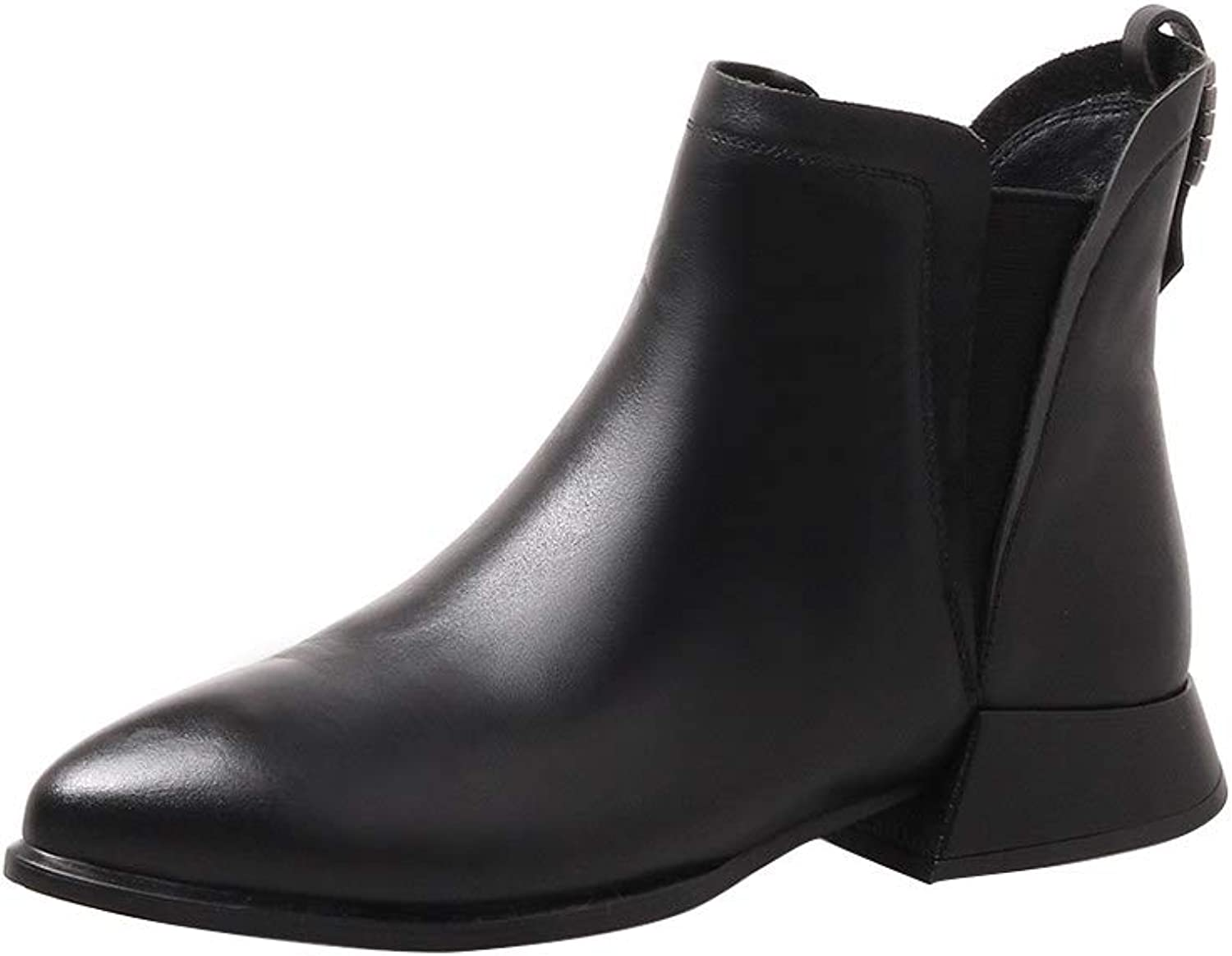 MAYPIE Womens Toalley Leather Zipper Ankle Boots