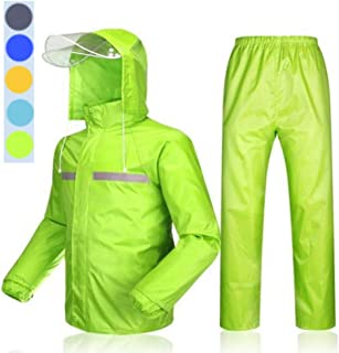 AP.DISHU Raincoat And Rain Pants Rain Suit for Men And Women Reusable (Rain Jacket And Rain Pants Set) Adults Waterproof R...