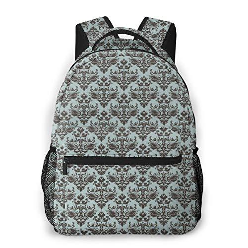 Rucksack Männer Und Damen, Laptop Rucksäcke für 14 Zoll Notebook, Formen Motiv Western Modular Leaf Kinderrucksack Schulrucksack Daypack für Herren Frauen