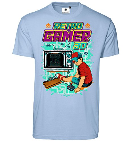 Customized by S.O.S heren T-shirt retro gamer