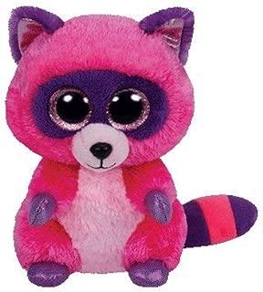 Ty Beanie Boos Roxie The Pink/Purple Raccoon Plush