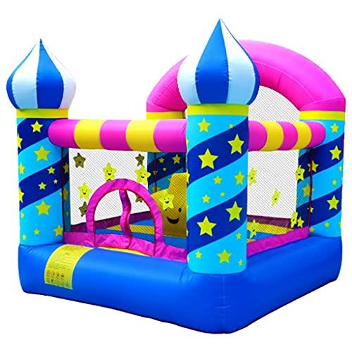Castillos inflables Castillo Hinchable para Niños En El Hogar Trampolín Inflable para Juegos De Interior Cama para Rebotar para Juegos Pequeños Al Aire Libre con Soplador, Bolsa De Transporte