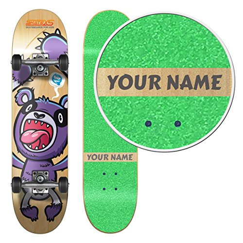 SkateXS Personalized Beginner Panda Street Kids Skateboard