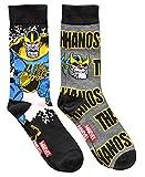 Marvel Thanos Avengers Men's Crew Socks 2 Pair Pack Shoe Size 6-12
