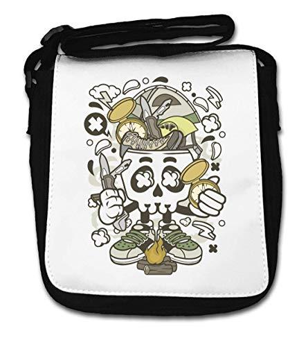 Camp Fire Skull I Love Camping Survival Art Small Shoulder Bag